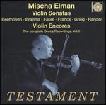 Mischa Elman Plays Violin Sonatas and Violin Encores