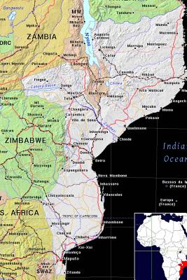 Modern Day Color Map of Mozambique in Africa Journal: Take Notes, Write Down Memories in This 150 Page Lined Journal - Journal, Map Lovers, and Paper, Pen2