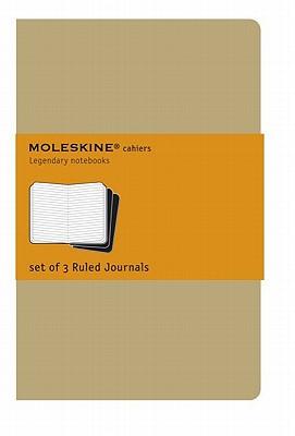 Moleskine Cahier Journal (Set of 3), Extra Large, Ruled, Kraft Brown, Soft Cover (7.5 X 10) - Moleskine (Creator)