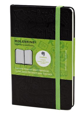 Moleskine Evernote Large Squared Smart Notebook - (5 X 8.25) - Moleskine