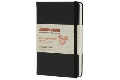 Moleskine Mickey Mouse Limited Edition Notebook, Pocket, Ruled, Black, Hard Cover (3.5 X 5.5) - Moleskine