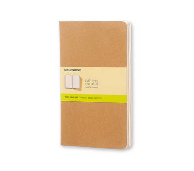 Moleskine Plain Cahier Journal Kraft Large: Set of 3 Plain Journals - Moleskine