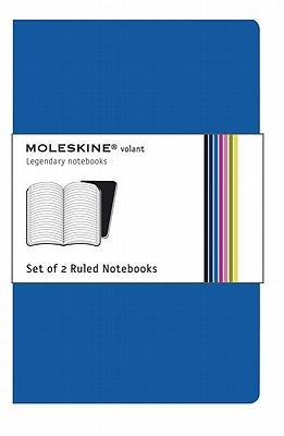 Moleskine Volant Notebook Ruled, Blue Xsmall: Set of 2 - Moleskine
