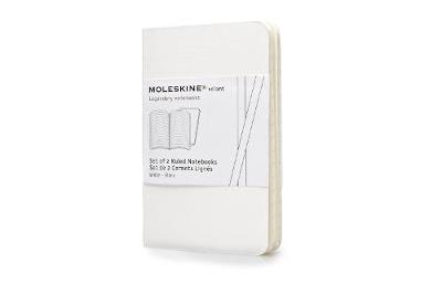 Moleskine Volant Notebook (Set of 2 ), Extra Small, Ruled, White (2.5 X 4) - Moleskine
