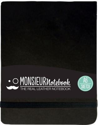 Monsieur Notebook Leather Journal - Landscape Black Sketch Small - Hide Stationery Ltd