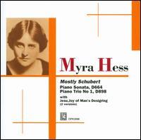 Mostly Schubert - Felix Salmond (cello); Jelly d'Aranyi (violin); Myra Hess (piano)