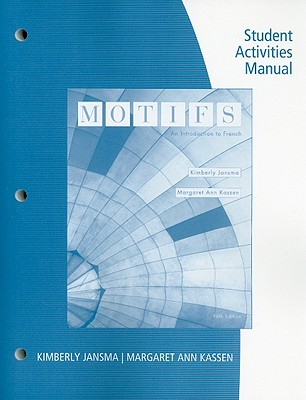 motifs student activities manual an introduction to french book by rh alibris com Student Manual for Science BLS Student Manual