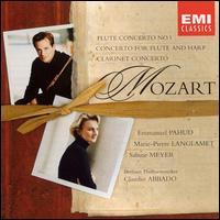 Mozart: Flute Concerto No. 1; Clarinet Concerto; Concerto for Flute & Harp - Emmanuel Pahud (flute); Marie-Pierre Langlamet (harp); Sabine Meyer (clarinet); Berlin Philharmonic Orchestra;...