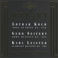 Mozart: Oboe Quartet; Horn Quintet; Clarinet Quintet - Brandis Quartet; Gerd Seifert (horn); Karl Leister (clarinet); Lothar Koch (oboe); Peter Brem (violin);...