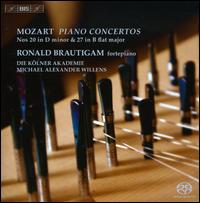 Mozart: Piano Concertos No. 20 in D minor & No. 27 in B flat major - Ronald Brautigam (fortepiano); Ronald Brautigam (candenza); Die K�lner Akademie; Michael Alexander Willens (conductor)