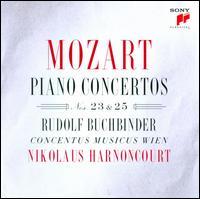 Mozart: Piano Concertos Nos. 23 & 25 - Concentus Musicus Wien; Rudolf Buchbinder (fortepiano); Rudolf Buchbinder (candenza); Nikolaus Harnoncourt (conductor)