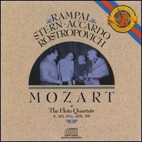 Mozart: The Flute Quartets - Isaac Stern (violin); Jean-Pierre Rampal (flute); Mstislav Rostropovich (cello); Salvatore Accardo (viola)