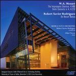 Mozart: The Impressario Overture, K. 486; Violin Concerto in A, K. 219; Robert Xavier Rodríguez: De Rerum Natura