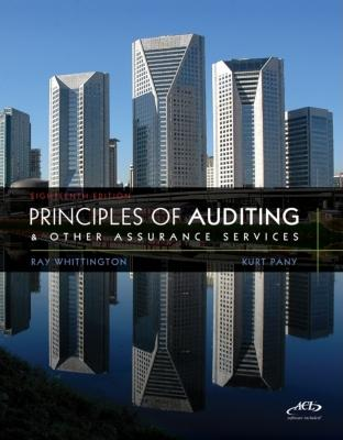 MP Principles of Auditing & Assurance Services with ACL Software CD - Whittington, Ray, PH.D., CPA, CIA, CMA, and Pany, Kurt