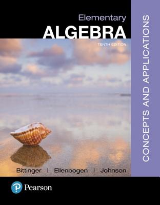 Mylab Math with Pearson Etext -- 24 Month Standalone Access Card -- For Elementary Algebra: Concepts and Applications - Bittinger, Marvin L, and Ellenbogen, David J, and Johnson, Barbara L