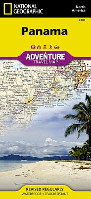 National Geographic Panama Adventure Map, Waterproof - Geographic, National