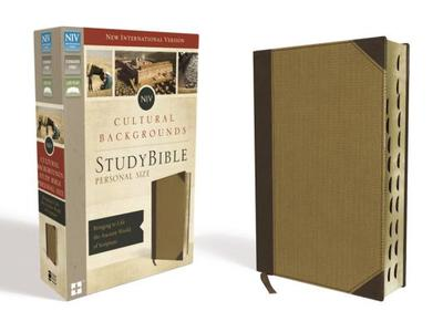 NIV, Cultural Backgrounds Study Bible, Personal Size, Imitation Leather, Tan, Indexed, Red Letter Edition: Bringing to Life the Ancient World of Scripture - Keener, Craig S (Editor), and Walton, John H (Editor)