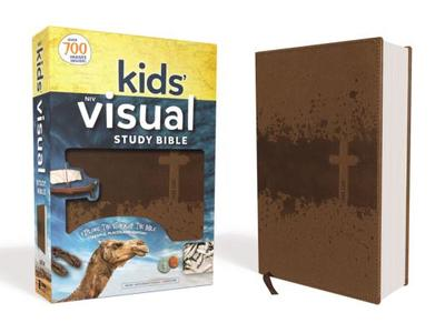 Niv, Kids' Visual Study Bible, Leathersoft, Bronze, Full Color Interior: Explore the Story of the Bible---People, Places, and History - Zondervan
