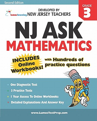 NJ Ask Practice Tests and Online Workbooks: Mathematics Grade 3, Second Edition - Learning, Lumos
