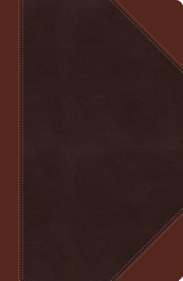 NKJV, Ultraslim Reference Bible, Large Print, Imitation Leather, Brown, Indexed, Red Letter Edition: Large Print, Center Column - Thomas Nelson