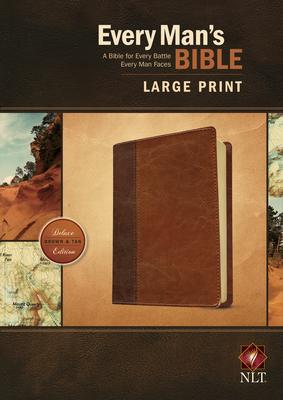 NLT Every Man's Bible Large Print Tutone Brown/Tan - Merrill, Dean