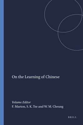 On the Learning of Chinese - Marton, Ference (Editor)