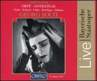 Orff: Antigonae - Benno Kusche (vocals); Christel Goltz (vocals); Ernst Haefliger (vocals); Hermann Uhde (vocals); Irmgard Barth (vocals);...