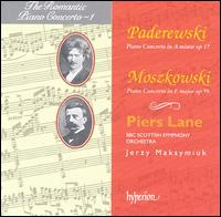 Paderewski: Piano Concerto in A minor, Op. 17; Moszkowski: Piano Concerto in E major, Op. 59 - Piers Lane (piano); BBC Scottish Symphony Orchestra; Jerzy Maksymiuk (conductor)