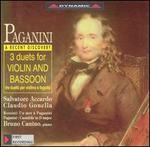 Paganini: 3 Duets for Violin and Bassoon