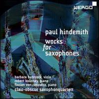 Paul Hindemith: Works for Saxophones - Barbara Buntrock (viola); Christoph Enzel (sax); Florian von Radowitz (piano); Jan Schulte-Bunert (sax);...