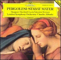 Pergolesi: Stabat Mater - Leslie Pearson (organ); Lucia Valentini Terrani (contralto); Margaret Marshall (soprano); London Symphony Orchestra;...