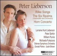 Peter Lieberson: Rilke Songs; The Six Realms; Horn Concerto - Lorraine Hunt Lieberson (mezzo-soprano); Michaela Fukacova (cello); Peter Serkin (piano); William Purvis (horn); Odense Symphony Orchestra