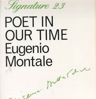 Poet in our time - Montale, Eugenio
