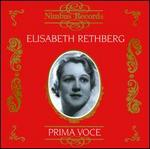 Prima Voce: Elizabeth Rethberg