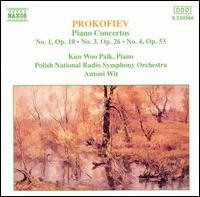 Prokofiev: Piano Concertos Nos. 1, 3 & 4 - Kun Woo Paik (piano); Polish Radio and Television National Symphony Orchestra; Antoni Wit (conductor)