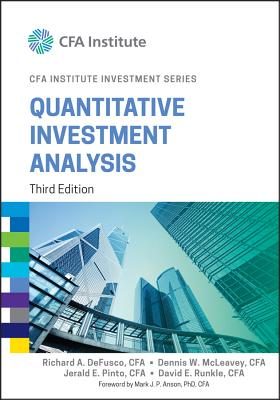 Quantitative Investment Analysis - DeFusco, Richard A, and McLeavey, Dennis W, and Pinto, Jerald E