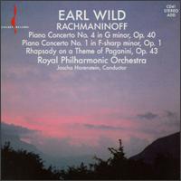 Rachmaninov: Concertos Nos. 1 & 4; Rhapsody, Op. 43 - Earl Wild (piano); Royal Philharmonic Orchestra; Jascha Horenstein (conductor)