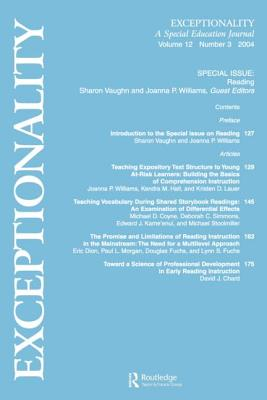 Reading: A Special Issue of Exceptionality - Vaughn, Sharon (Editor), and Williams, Joanna P (Editor)