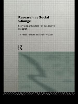 Research as Social Change - Schratz, Michael