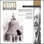 Rimsky-Korsakov: Symphony No. 3 in C; Taneyev: Overture to 'Oresteya'; Arensky: Suvorov March