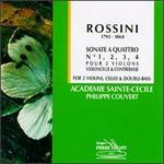 Rossini: Sonate a Quattro Nos. 1, 2, 3 & 4 - Accademia di Santa Cecilia Orchestra; Bernard Couvert (double bass); Dominique Dujardin (cello); Philippe Couvert (violin)