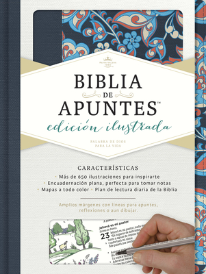 Rvr 1960 Biblia de Apuntes, Edicion Ilustrada, Tela En Rosado y Azul - B&h Espanol Editorial (Editor)