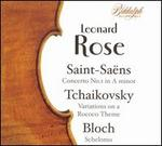 Saint-Sa�ns: Concerto No. 1 in A minor; Tchaikovsky: Variations on a Rococo Theme; Bloch: Schelomo