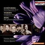 Schönberg: Streichquartett Nr. 2; Webern Langsamer Satz; Berg: Die geheime Gesangstimme