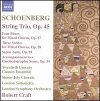 Schoenberg: String Trio, Op. 45 - Alan R. Kay (clarinet); Charles Neidich (clarinet); Christopher Oldfather (piano); Fred Sherry (cello);...