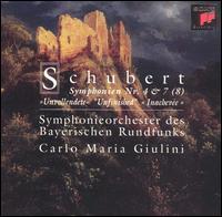 "Schubert: Symphonien Nr. 4 & 7 (8) ""Unvollendete"" - Bavarian Radio Symphony Orchestra; Carlo Maria Giulini (conductor)"