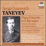 Sergei Ivanovich Taneyev: Piano Concerto in E flat major - Adam Wodnicki (piano); Joseph Banowetz (piano); Vladimir Ashkenazy; Russian Philharmonic of Moscow;...