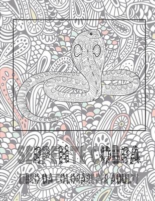 Serpente Cobra - Libro da colorare per adulti - Rossetti, Anna