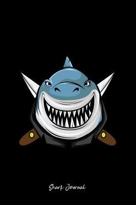 Shark Journal: Dot Grid Journal - Killer Shark Black Cool Fun-ny Sea Ocean Animal Gift - Black Dotted Diary, Planner, Gratitude, Writing, Travel, Goal, Bullet Notebook - 6x9 120 pages - Shark Journals, Gcjournals