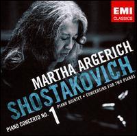 Shostakovich: Piano Concerto No. 1; Piano Quintet; Concertino for Two Pianos - Alissa Margulis (violin); Lilya Zilberstein (piano); Linda Cohen (viola); Martha Argerich (piano); Mischa Maisky (cello);...